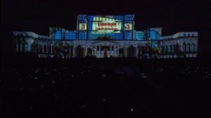 3D mapping на фасаде бухарестского Дворца Парламента