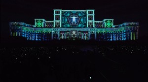 Умопомрачительный видеомэппинг на бухарестском Дворце Парламента