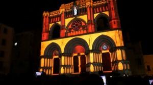 Архитектурный видеомэппинг на испанский Кафедральный Собор