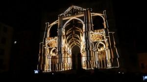 Поражающий 3D mapping на испанский Кафедральный Собор
