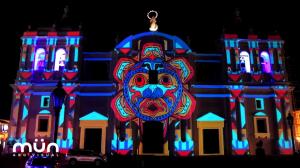 Настоящее буйство красок в 3D mapping в честь Рубена Дарио