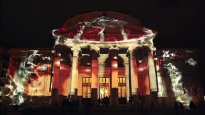Восхитительный 3D mapping на George Enescu International Competition 2016
