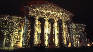 Красивый 3D mapping на George Enescu International Competition 2016