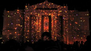 Поразительный 3D mapping на индийском фестивале Mysore Dasara