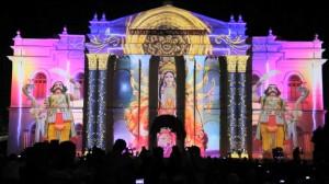 Удивительный 3D mapping на индийском фестивале Mysore Dasara