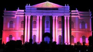 Удивительный видеомэппинг на индийском фестивале Mysore Dasara