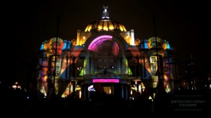 Видеомэппинг на фасад Дворца изящных искусств