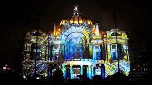 Архитектурный видеомэппинг на Дворец изящных искусств