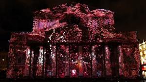 3D mapping на фасад Большого Театра