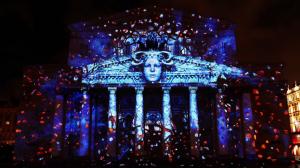 Большой театр с архитектурным 3D mapping