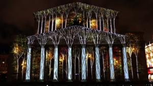 Большой театр и архитектурный 3D mapping на его фасаде