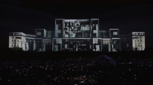 Архитектурный 3D mapping на фасаде Дворца Парламента