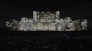Архитектурный 3D mapping на Дворец Парламента