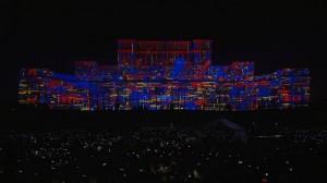 Архитектурный видеомэппинг на Дворец Парламента