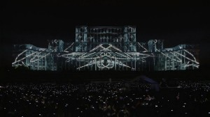 3D mapping на фасаде Дворца Парламента