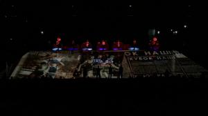 """Красивый видеомэппинг на баскетбольном матче ЦСКА - """"Панатинаикос"""""""