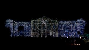 Архитектурный 3D mapping на фасаде Дебреценского Университета