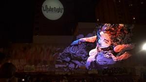 Умопомрачительный симбиоз уличного граффити и 3D маппинга