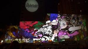 Классный симбиоз уличного граффити и 3D mapping