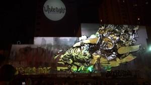 Удивительный симбиоз уличного граффити и 3D mapping