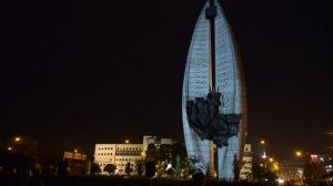 """Архитектурный видеомэппинг на """"Памятник Делу Революции"""""""