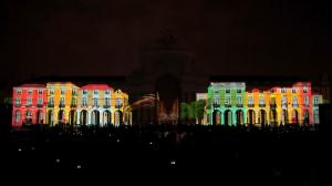 Архитектурный видеомэппинг на Дворцовой площади Лиссабона