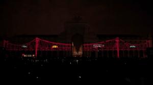 Дворцовая площадь Лиссабона и архитектурный 3D mapping